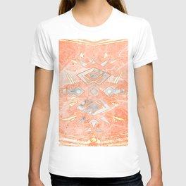 Sweet Pink Marble Design T-shirt