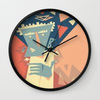 angel Wall Clocks featuring Angel by 5wingerone