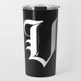 Letter V Travel Mug