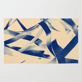 Blue paper stripes Rug