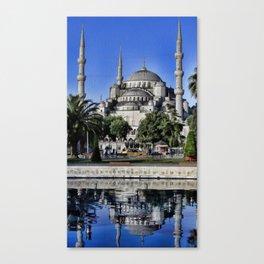 Blue Mosque Reflection Canvas Print