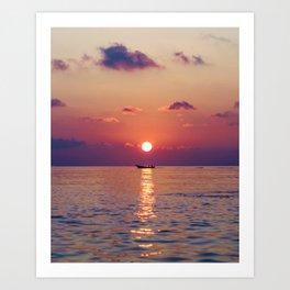 Calm Sunset (Color) Art Print