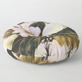 Magnolias Still Life by Frida Kahlo Floor Pillow