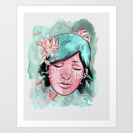Broken Up Over Crystals Art Print