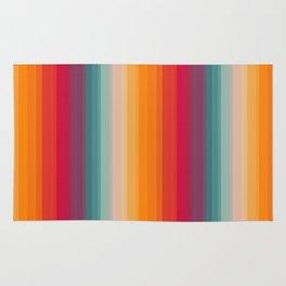 Retro Rainbow Striped Pattern Rug