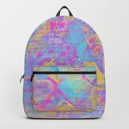 CMYK Mixed Media Collage Backpack