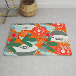 Cacti, fruits and flowers Rug