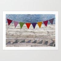 summer banner Art Print