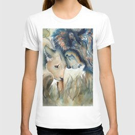 Watercolor Lion and Lioness T-shirt