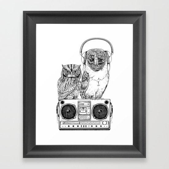 Silent Night ANALOG zine Framed Art Print