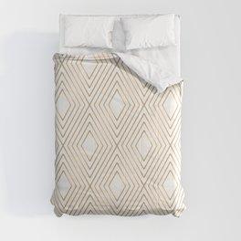 Elegant Geometric Gold Pattern Illustration Comforters