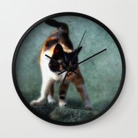 street fighter Wall Clocks featuring street fighter by lucyliu