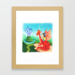 The Girl and The Dragon Framed Art Print