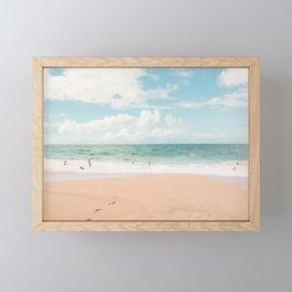 Family Vacation - Hawaii Beach, Ocean Photography Framed Mini Art Print