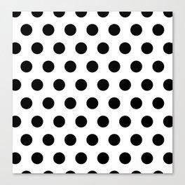 Polka Dots Black & white Canvas Print