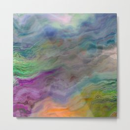 In Search of a Rainbow Abstract Painting Metal Print