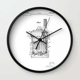 Curta Mechanical Calculator Patent Drawing Wall Clock