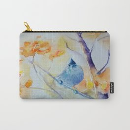 Nuthatch Aspen Morning Looking Up watercolour by CheyAnne Sexton Carry-All Pouch