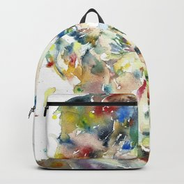 GEORGE ORWELL watercolor portrait.4 Backpack
