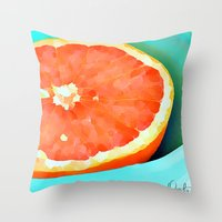 aelwen Throw Pillows featuring Grapefast by Xchange Art Studio