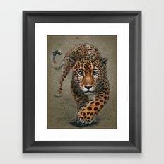 Jaguar background Framed Art Print