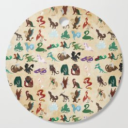 Mythical Creatures Pattern Cutting Board