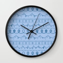 Blue Loops Wall Clock