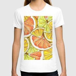 Lemon Slice Pattern T-shirt