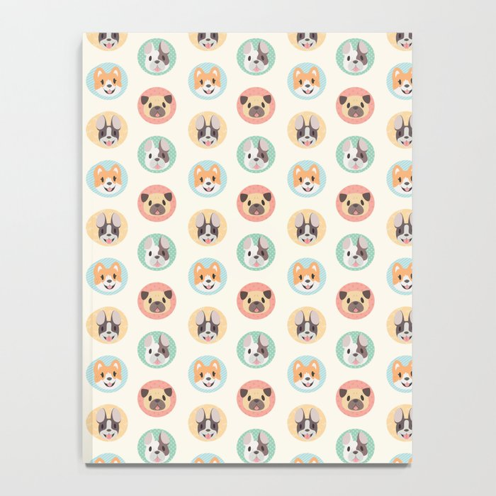 Circle Pup Pattern Notebook
