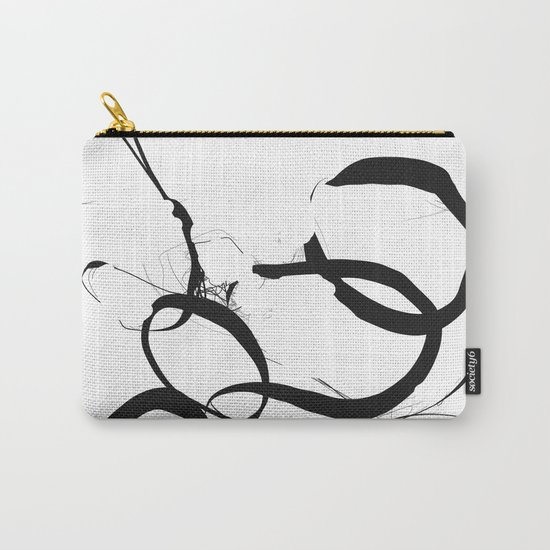 Abstract Line No. 1 Black and White Carry-All Pouch