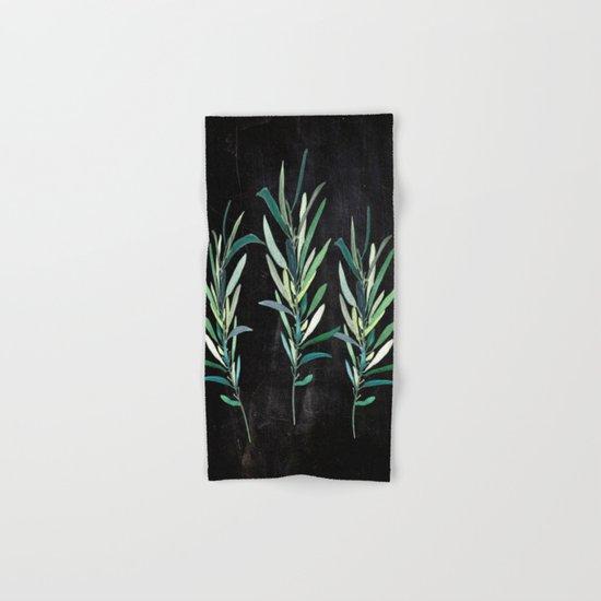 Eucalyptus Branches On Chalkboard Hand & Bath Towel