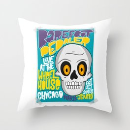 Barefoot Pedaler (HE103) Throw Pillow