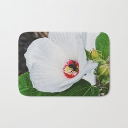 The Flower and the Bee Bath Mat