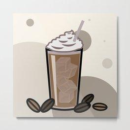 Iced Coffee Metal Print