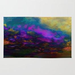 deep purple sky Rug