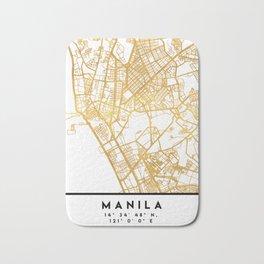 MANILA PHILIPPINES CITY STREET MAP ART Bath Mat
