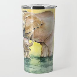 Colorful Mother's Love - Elephant Travel Mug