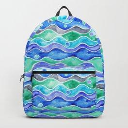 Ocean Pattern - Dolphin Backpack