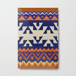 Aztec Folk Art Metal Print