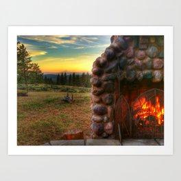 Northwest Warmth - Mt. Hood Art Print