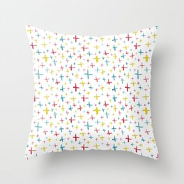 Watercolor Plus Signs Throw Pillow
