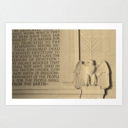 Wall at the Lincoln Memorial Art Print
