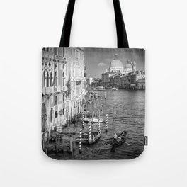 VENICE Canal Grande & Santa Maria della Salute | Monochrome Tote Bag