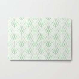Pastel Mint Green Polka Dot Scallop Pattern on Off White Coloro 2020 Color of the Year Neo Mint Metal Print