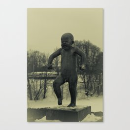 Cries of Vigelandsparken Canvas Print