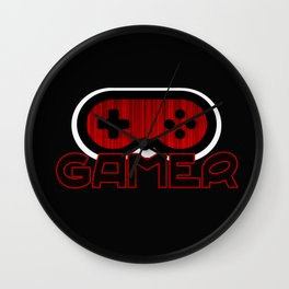 Red Gamer Wall Clock