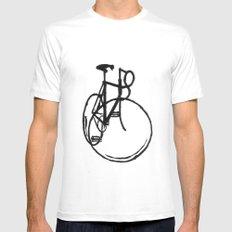 Bike White Mens Fitted Tee MEDIUM