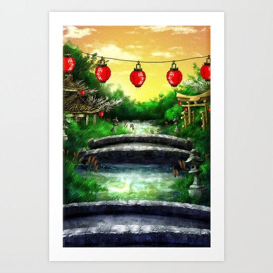 A Bridge Over Placid Waters Art Print