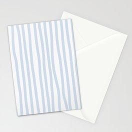 Light Blue Stripes Stationery Cards