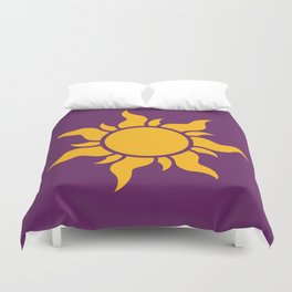 Tangled Rapunzel Sun Logo - Corona Symbol Duvet Cover